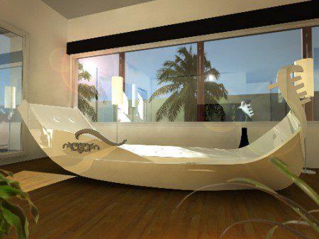 дизайн кровати в виде гондолы