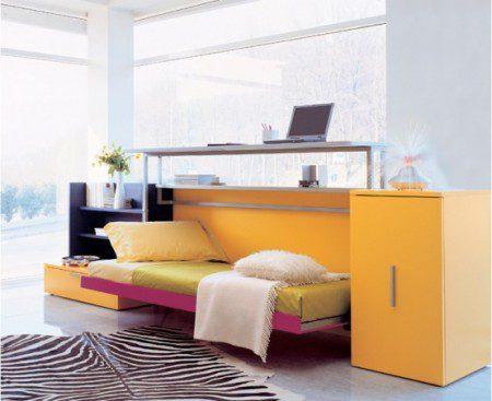 кровать и письменный стол фото