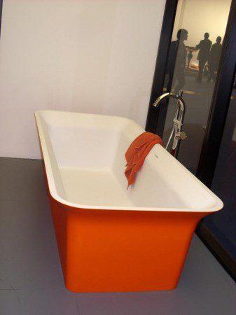 оранжевая ванна фото