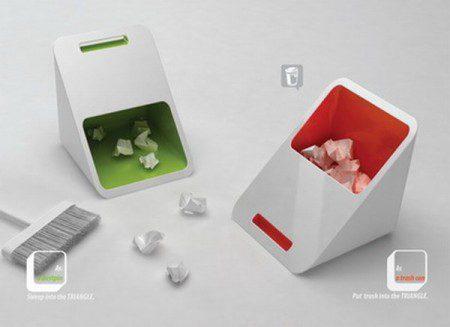 Оригинальный совок и корзина для мусора в одном элементе