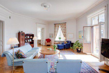 Разнообразный дизайн интерьера в 7 комнатной квартире