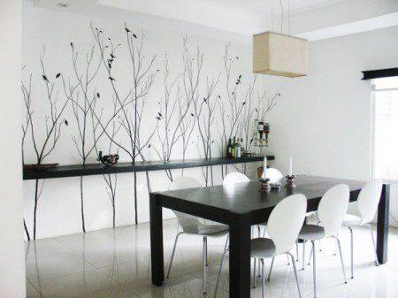 роспись стен столовой