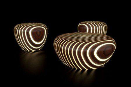 Современная деревянная мебель, что светится в темноте, Милан 2010