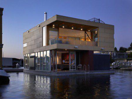 Современный дом на воде в Сиэтле