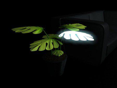 Тонкие лампы в виде комнатных растений