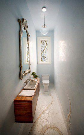 Элегантный дизайн маленькой дамской комнаты