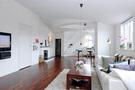 Красивый и вдохновляющий дизайн квартиры в белом цвете