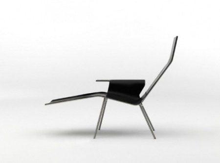 Минималистское кожаное кресло