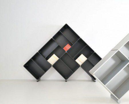 дизайнерские шкафы для книг фото