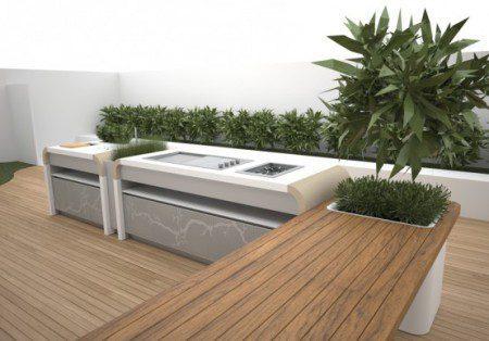 Современная открытая кухня от Electrolux