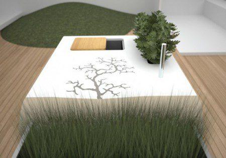 дизайн внешней кухни