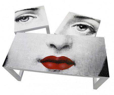 Стол «Поцелуй» от Fornasetti