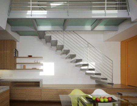 фото стальной лестницы в загордном доме