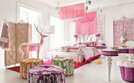 дизайн комнаты в розовом цвете