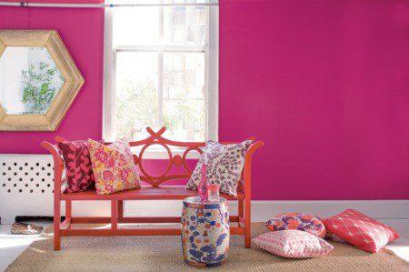 комната в розовом цвете