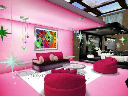 розовая комната для девушек
