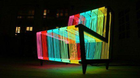 Иллюминируемое кресло - стул дискотека