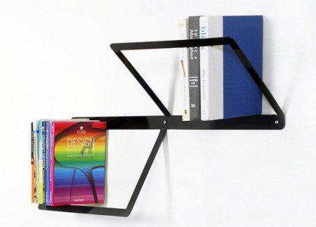 Минималистская книжная полка - «DUO» от дизайнера Ana Linares