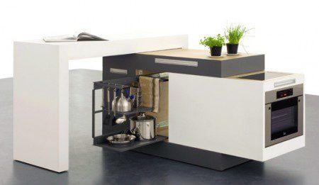 Модульная кухонька для очень маленького пространства