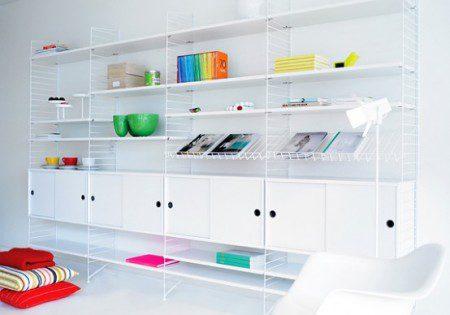 Скандинавские минималистские книжные полки и модульные шкафы