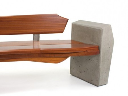 современная деревянная скамья фото