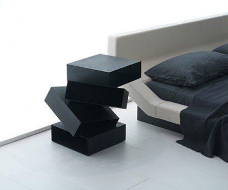 Творческая прикроватная тумбочка с местом для хранения вещей от Порро