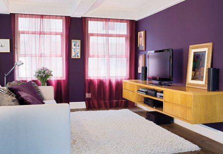 25 идей оформления интерьера фиолетового цвета