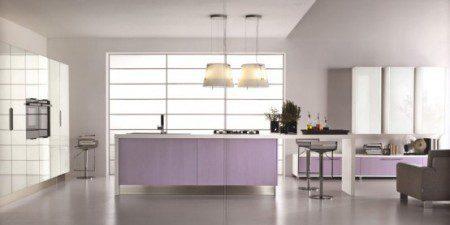 фото дизайн фиолетовой кухни