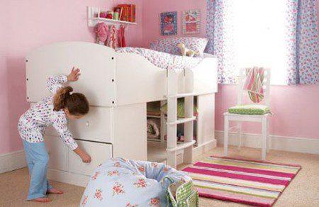 спальня для девочки в розовом цвете