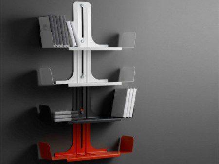 Модульная система алюминиевых книжных полок - Alibook от Domodinamica