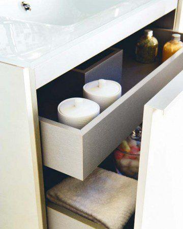 Простой, но стильный дизайн ванной комнаты