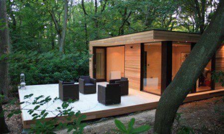 Современная экологически чистая дом студия в Лондоне
