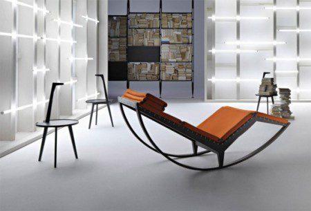 Стильное итальянское кресло-качалка - Canapo от Cassina