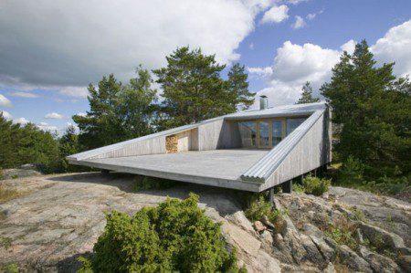 Вилла Mecklin, удивительная архитектура в пределах скалистого ландшафта