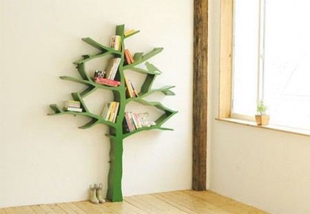 5 креативных шкафчиков для книг