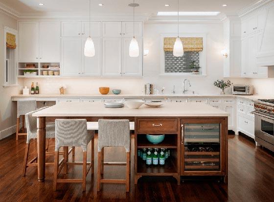 Интерьер столовой комнаты: совмещение с кухней