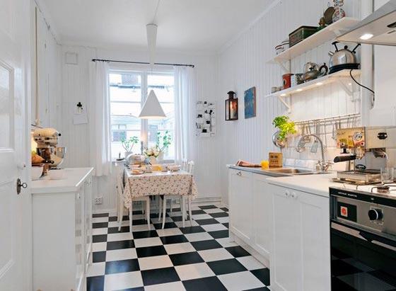 Дизайн интерьера столовой совмещенной с кухней