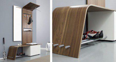 Изогнутая мебель для прихожей