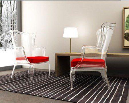 Стильный и прозрачный стул