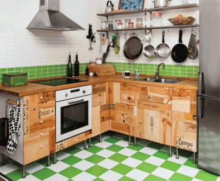 Кухонная мебель в стиле винного погреба
