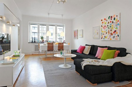 Яркая квартира с очаровательным интерьером