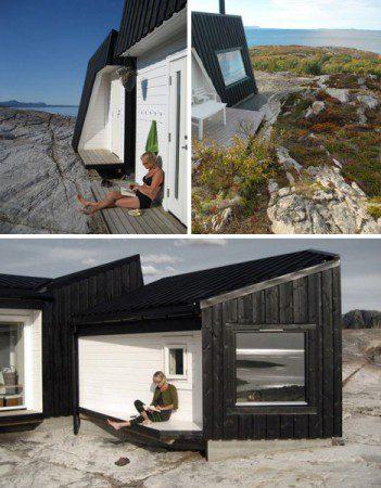 Одноэтажный дом на побережье Норвегии