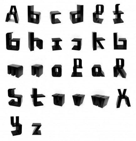 Стулья в стиле алфавита
