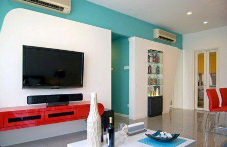 Замечательная красочная квартира в Сингапуре