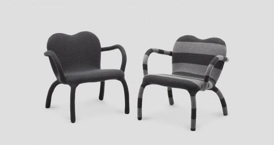 Интересный стул в необычном оформлении