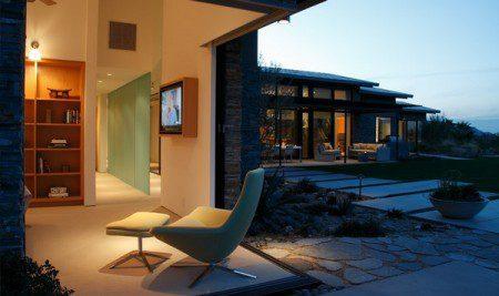 Современный дом с причудливым пейзажем