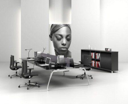 8 вариантов групповых столов для офиса