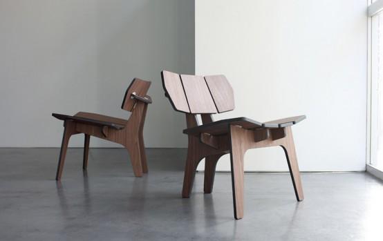 Деревянный стул для отдыха