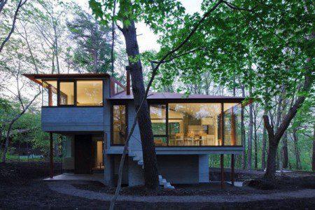 Необычный японский дизайн дома в Нагано