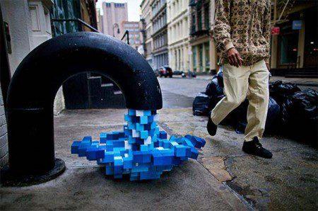 Современное искусство-стрит в Нью-Йорке